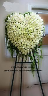 White Rose Elegance Heart