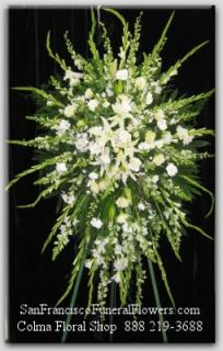 White Floral Elegance Spray