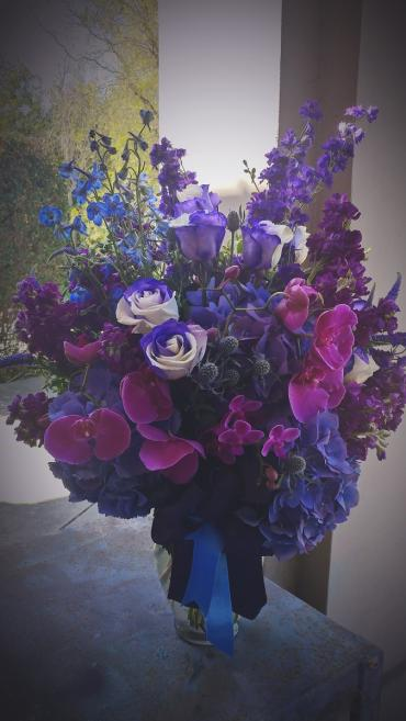 Purple and blue vase