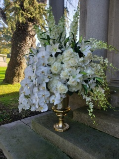 Monochromatic Grace Gold Urn Arrangement