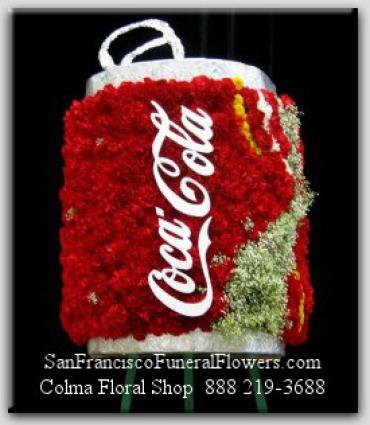 Coke Floral Tribute