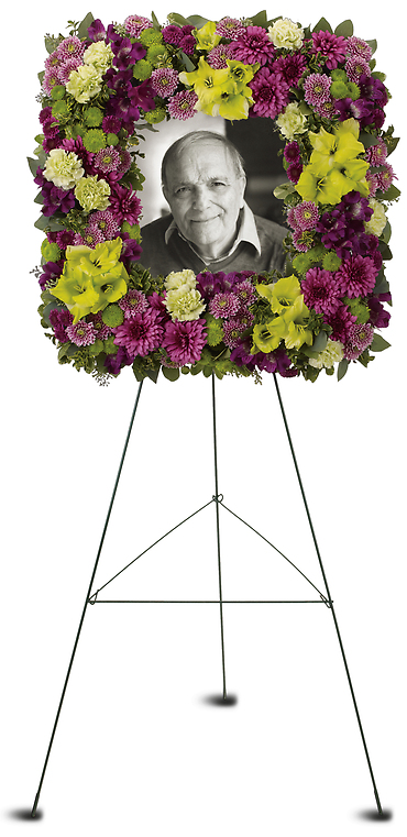 Mosaic of Memories Square Easel Wreath