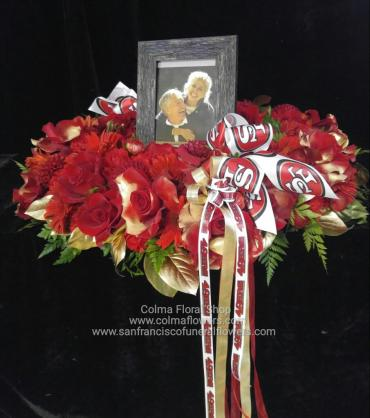 49ers Urn/Picture Wreath
