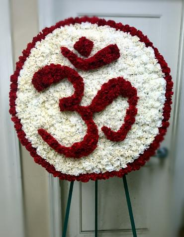 """Om\"" Custom Floral Tribute"