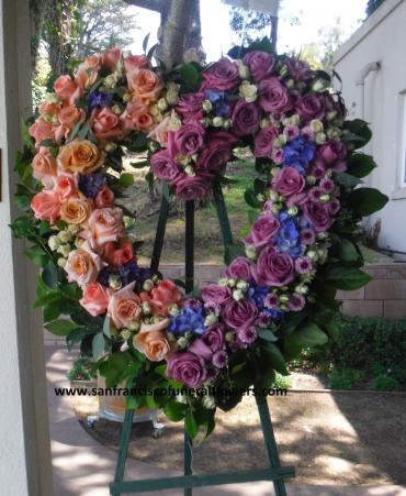 Peach and Lavender Harmony heart