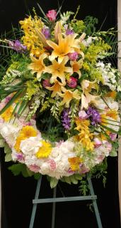 Sunrise Floral wreath